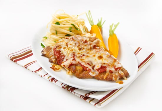 Veal cutlets parmigiana