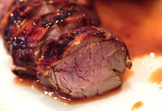 Filet de porc du Québec laqué à l'érable et au whisky