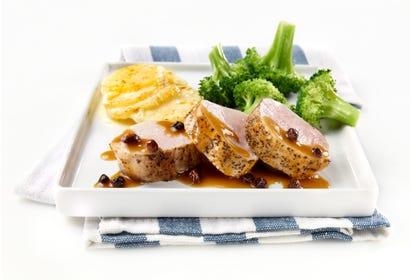 Currant, maple and rum pork tenderloin Image