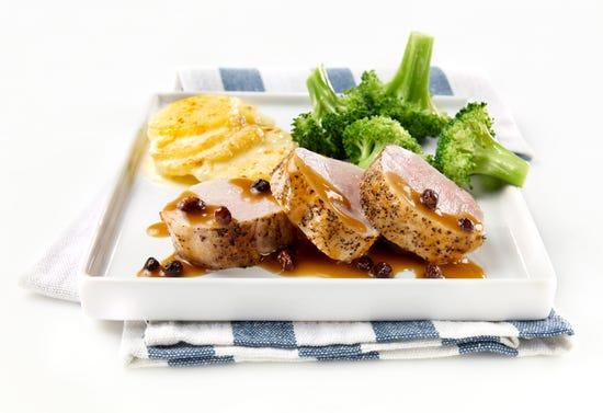 Currant, maple and rum pork tenderloin