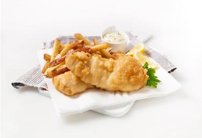 Filet de poisson à chair blanche frit Image