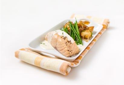 Filet de saumon et sauce à la crème Image