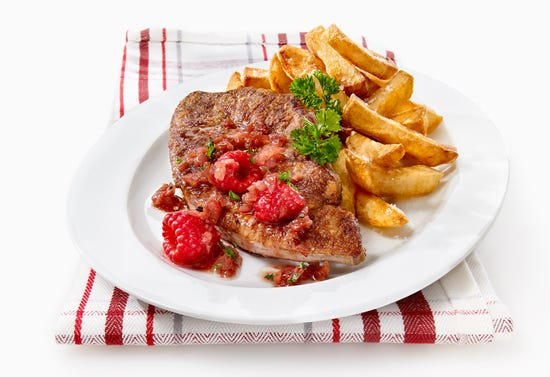 French bistro style veal liver
