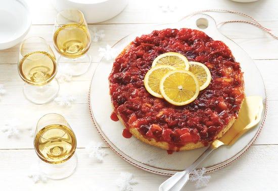 Gâteau renversé aux canneberges