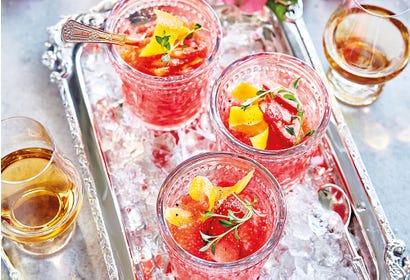 Granité-cocktail aux fraises