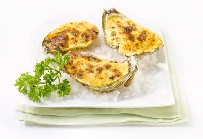 Huîtres gratinées au sabayon de champagne Image