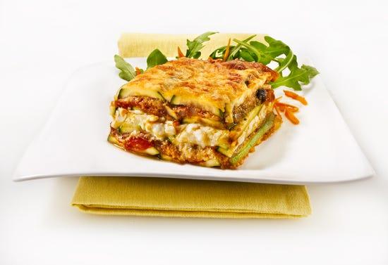 Vegetarian lasagna with zucchini