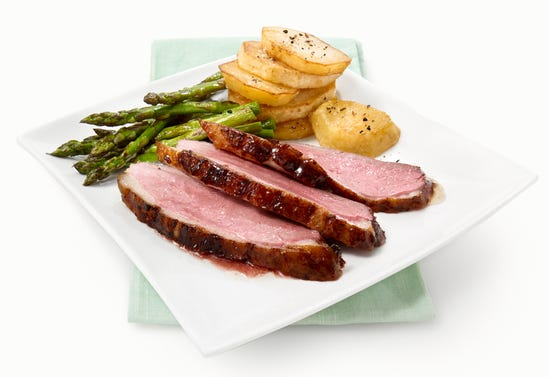 Duck breasts with beer and maple syrup