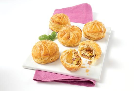 Mini manchego and serrano ham puff pastries