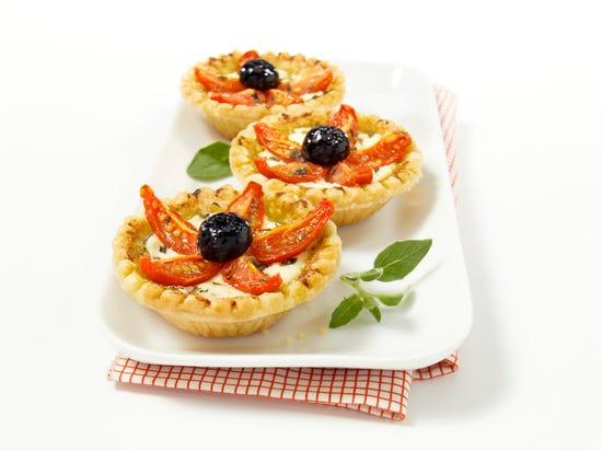 Minitartelettes aux tomates