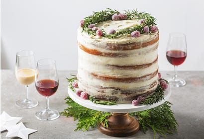 Maple syrup naked cake Image