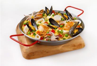 Paella aux fruits de mer Image