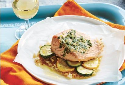 Papillotes de saumon et légumes