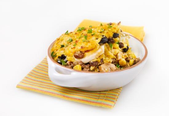 Pastel de choclo (Chilean beef and corn casserole)