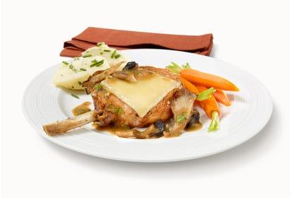Porc en sauce aux champignons et fromage du Québec Image