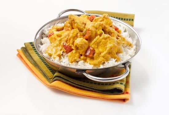 Poulet au beurre à l'indienne