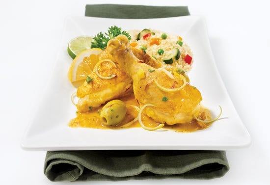Chicken with lemon and lime