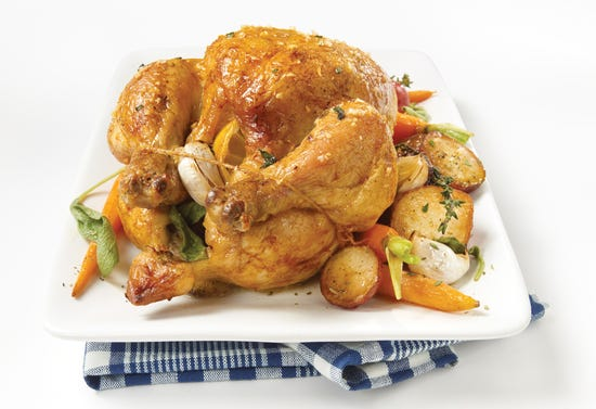 Roast chicken with sage and lemon