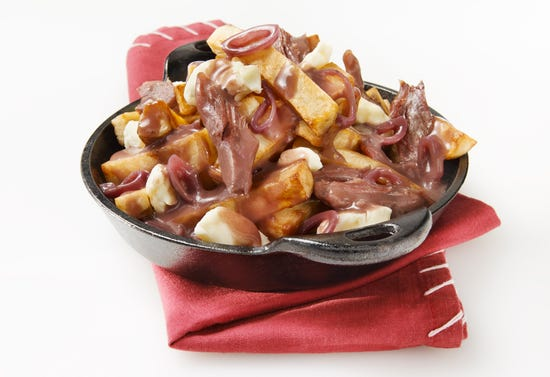 Poutine with pulled-duck confit