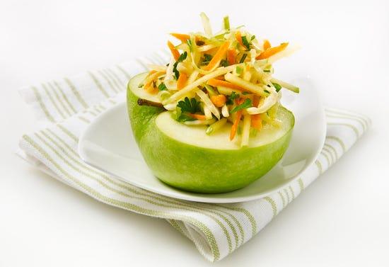 Salade de chou à la pomme verte