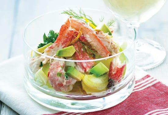 Salade étagée de crabe au fenouil