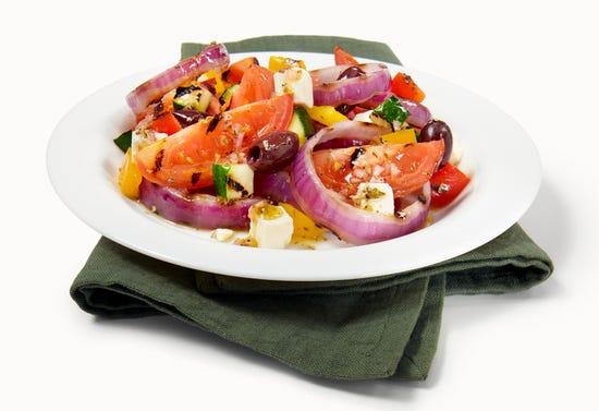 Grilled vegetable salad à la grecque