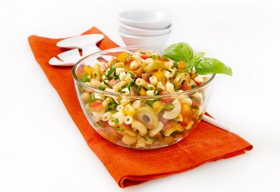 Bruschetta-style macaroni salad