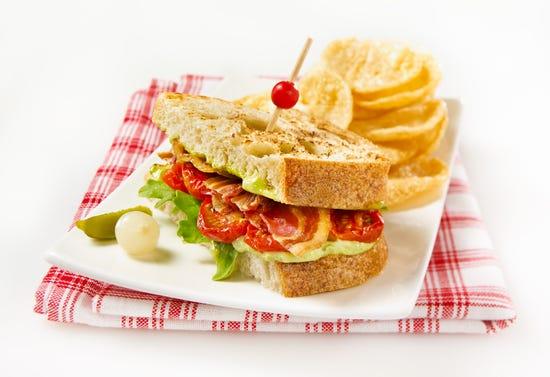 BLT sandwiches (pancetta, arugula, tomato)