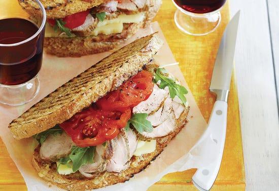 Sandwichs de luxe au porc grillé