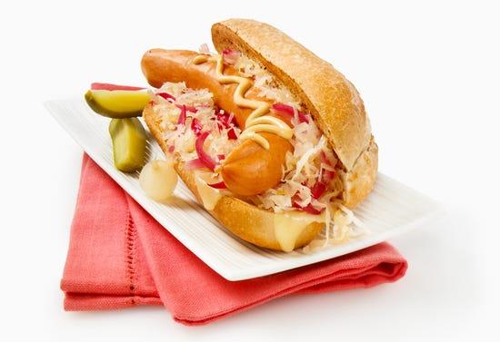 Sandwichs à la saucisse et à la choucroute