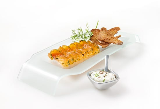 Gravlax (cured salmon) with dill sauce