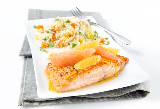 Salmon in citrus sauce