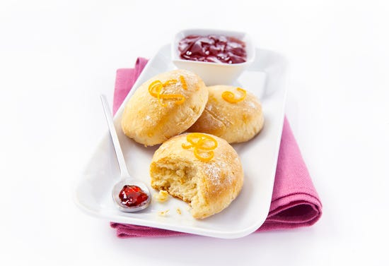 Scones with orange zest