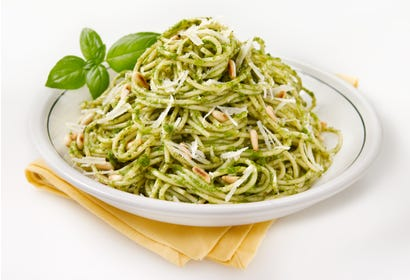 Spaghettis au pesto Image