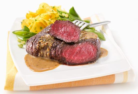 Steak d'autruche sauce moutarde