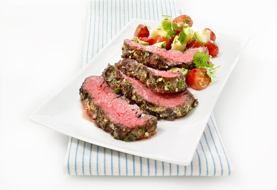 Mediterranean marinated beef flank steak