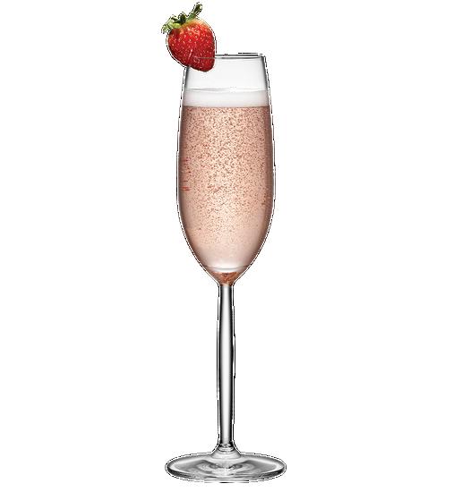 Baiser à la fraise