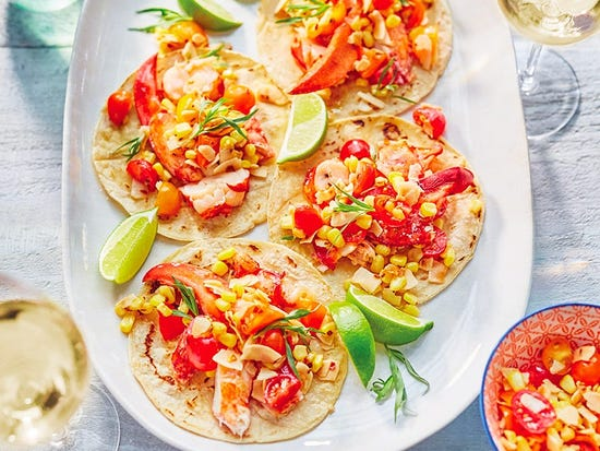 Tacos au homard