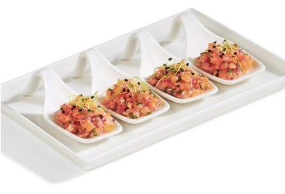 California-style salmon tartare Image