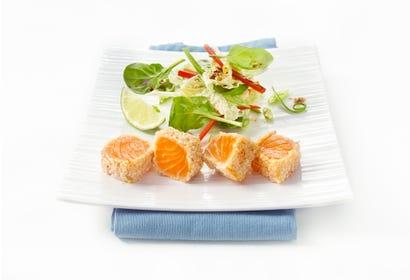 Tataki de saumon à l'asiatique Image