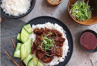 Tofu croustillant à la sauce coréenne