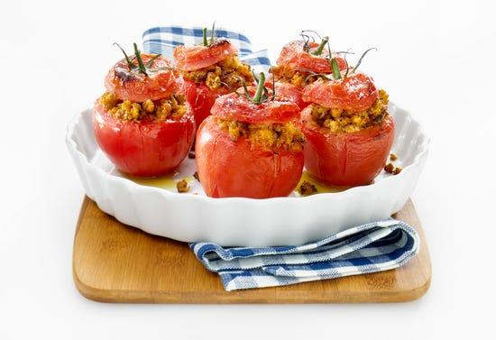 Tomates farcies au veau Parmigiana