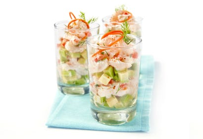 Avocado and shrimp verrines Image