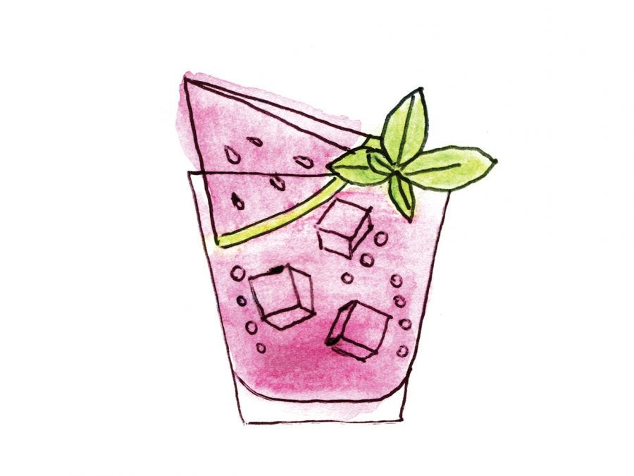 A cocktail drawing