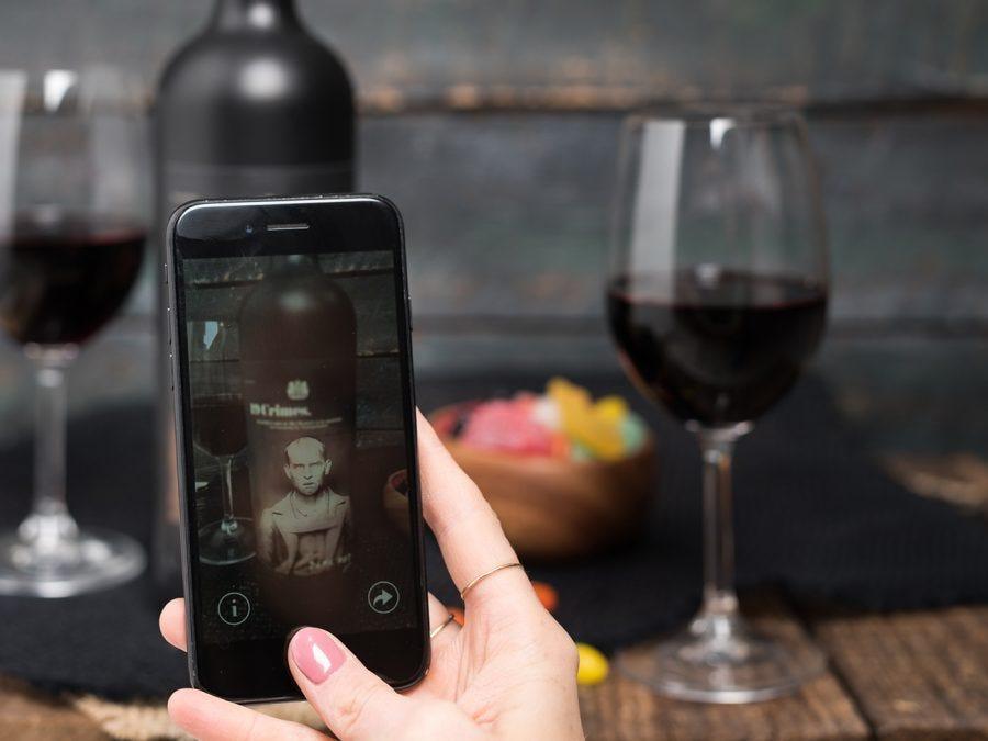 Mobile application for 19 Crimes wine
