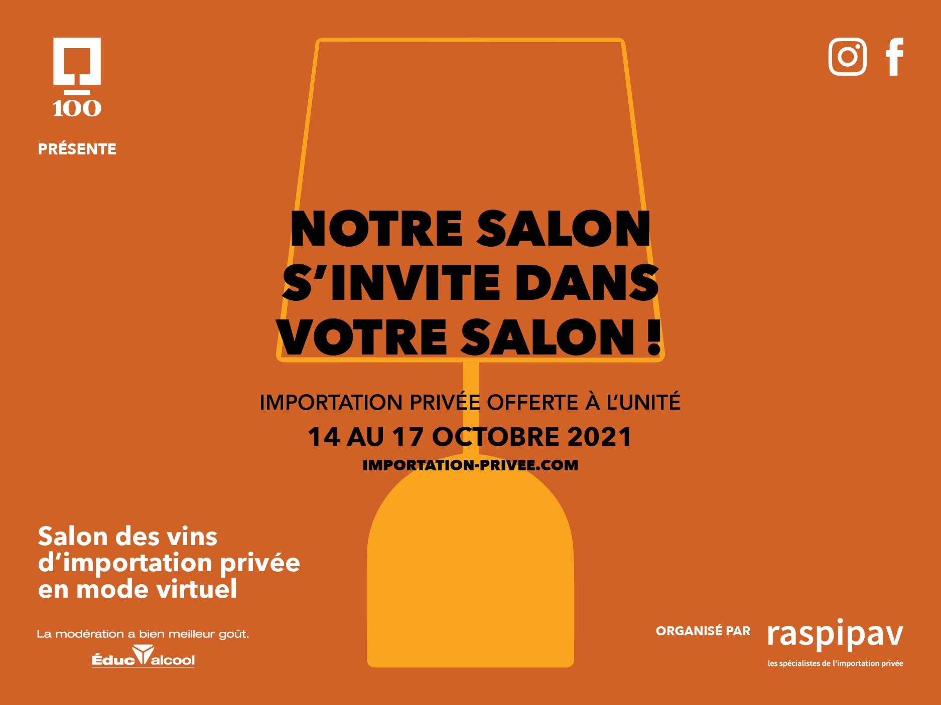 La SAQ est fière d'être partenaire de la 13e édition du RASPIPAV qui aura lieu du 14 au 17 octobre 2021.