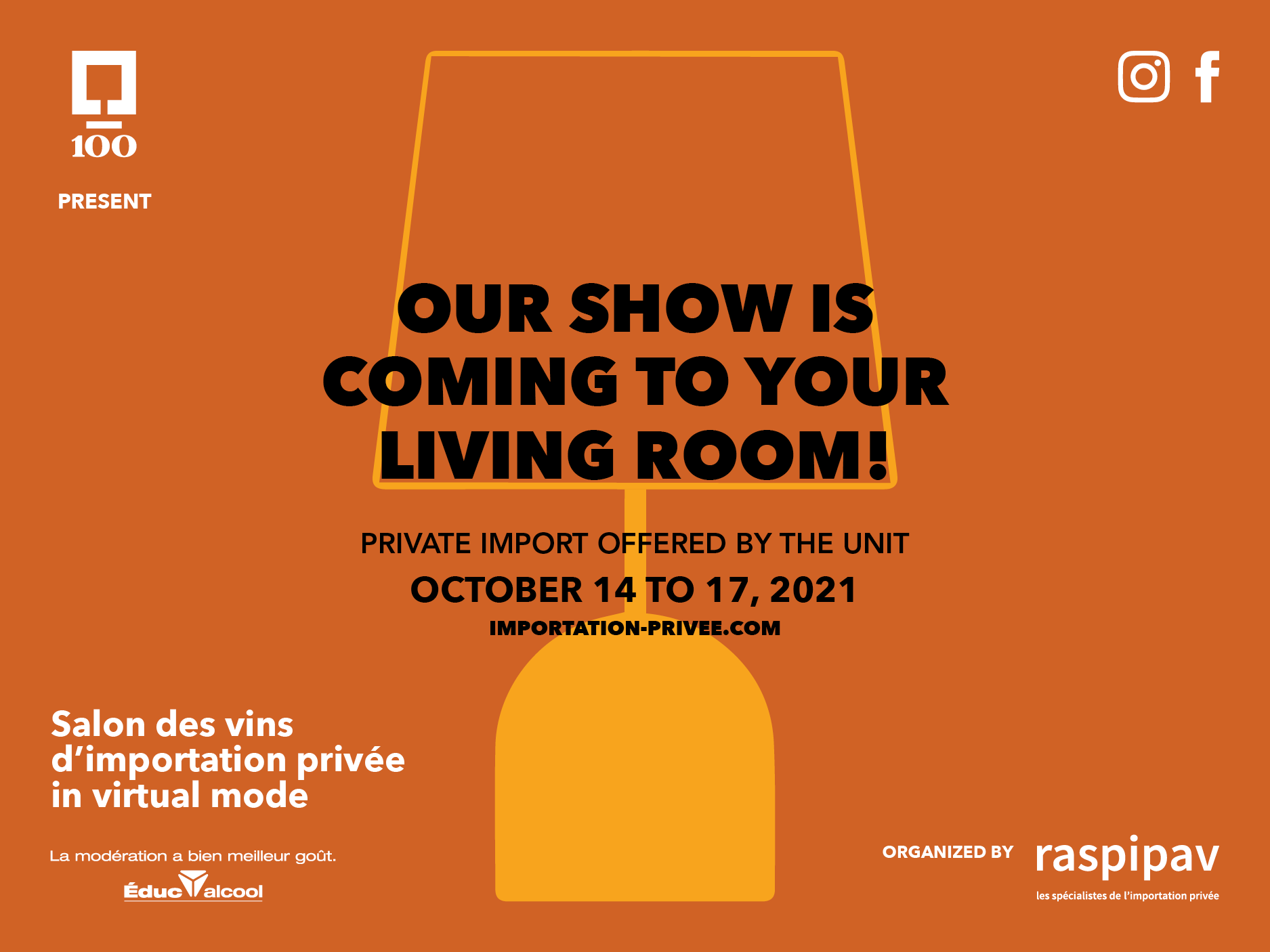 The SAQ is proud to be a partner of the 13th edition of the RASPIPAV which will take place from October 14 to October 17, 2021.