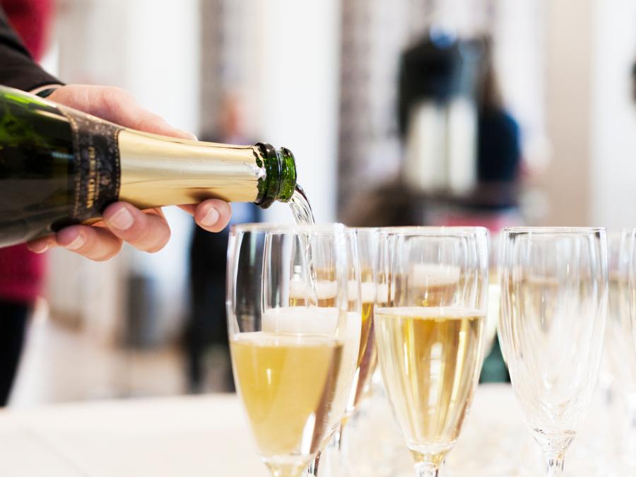 Des coupe de champagnes