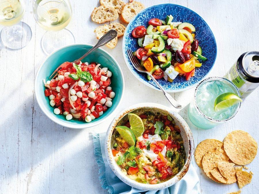 Plusieurs salades