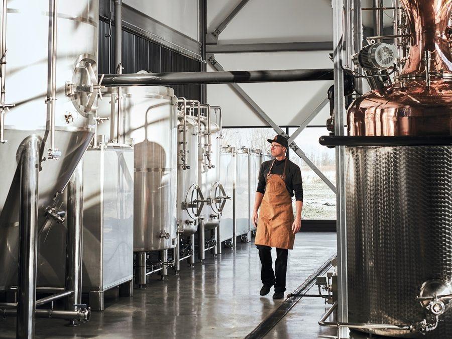 Équipements de la distillerie